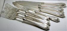 Sterling Silver Handled Fish Set – Forks & Knives – EP Blades