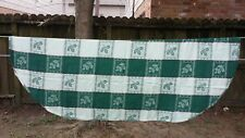 """Green White Holly Christmas Plaid Oval 78""""X56"""" Tablecloth Free Shipping"""