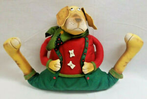 Yellow Dog Christmas Outfit Door Stopper Draft Dodger Energy Saving Protector