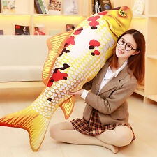 big plush colourful fish toy new creative gold-silver carp pillow gift 140cm