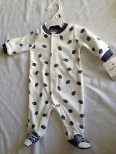 Nwot newborn baby boy sleep and play sleeper pajamas football 100% polyester