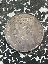1870 Germany Baden Thaler Lot#JM2836 Silver! 21,510 Minted!