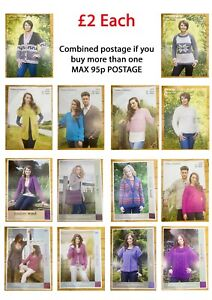 KNITTING PATTERN. CHUNKY.14 STYLES. COMBINED POSTAGE. GENUINE. ORIGINAL.