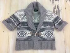 RALPH LAUREN - Womens Gray Southwest Wool & Angora Sweater, LARGE