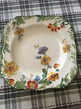 Vintage STEUBENVILLE SQUARE FLORAL IVORY Salad Plate Dessert Dish PATTERN STB12