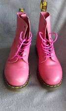 DR MARTENS WOMENS PASCAL LACE UP SOFT LEATHER BOOTS RASPBERRY PINK SIZE UK 8