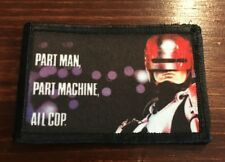 RoboCop Movie Poster  Morale Patch Funny Tactical Military USA flag Hook Badge