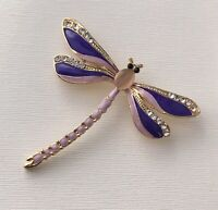 Dragonfly brooch in  enamel on  metal
