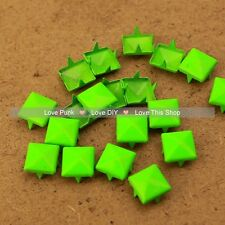 150pcs 9mm Green Pyramid Rivet Spike Punk Bag Belt Leathercraft DIY Rivets