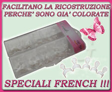 100 TIPS FRENCH RICOSTRUZIONE UNGHIE NAIL ART GEL UV