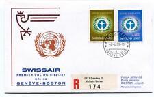 FFC 1973 Swissair First Flight DC 8 62 SR 166 Geneve Boston REGISTERED Onu