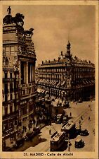 Madrid Spanien España ~1920/30 Calle de Alcalá Prachtstraße Tram Straßenbahn