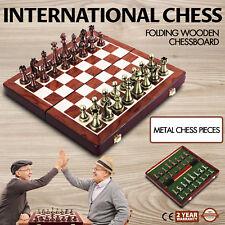 International Chess Set folding wooden chessboard Handmade Standard pieces