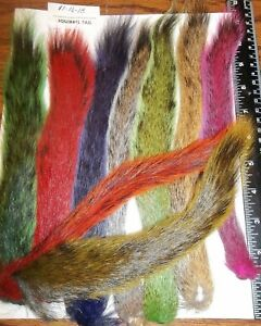SQUIRREL TAIL - Premium Fly Tying Material - Natural & Dyed Colors