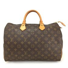 100% Authentic Louis Vuitton Monogram Speedy 35 Boston Travel Hand bag /e595