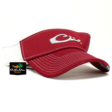 DRAKE WATERFOWL GAME DAY FITTED VISOR ALABAMA RED & WHITE XL / 2XL FLEX FIT