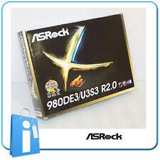 Placa base ATX 770 ASRock 980DE3/U3S3 R2.0 Socket AM3 con Accesorios