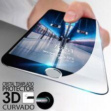 """PROTECTOR PANTALLA CRISTAL TEMPLADO PARA IPHONE 8 PLUS 5,5"""" 8+ 3D CURVO NEGRO"""