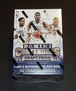2015-16 PANINI CONTENDERS DRAFT NBA BASKETBALL SEALED BLASTER 2 AUTOS PER BOX!!!