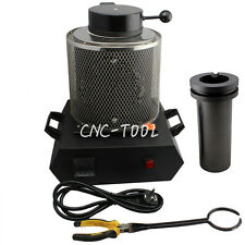 Automatic Gold Melting Furnace Jewelry Tool Equip w/ 2KG Graphite Crucible 110V