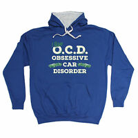 OCD OBSESSIVE CAR DISORDER HOODIE hoody cars petrol head funny birthday gift