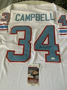 Earl Campbell Autographed/Signed Jersey JSA COA Houston Oilers