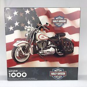 "Springbok Harley Davidson Motorcycles 1000 Piece Puzzle 24x30"" PZL6198 Vtg 1998"