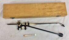 More details for vintage allbrit fixed arm polar planimeter, mathmatical measuring instrument