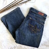 AG The Angel Womens Boot Cut Jeans Size 26 R Embroidered Adriano Goldschmied