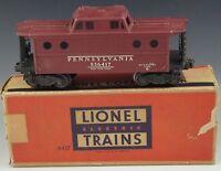 LIONEL RED CABOOSE #6417 PENNSYLVANIA POSTWAR TRAIN CAR VERY GOOD O/027 GAUGE