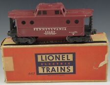 LIONEL RED CABOOSE #6417 PENNSYLVANIA POSTWAR TRAIN CAR VERY GOOD O/027 GAUGE