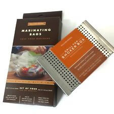Williams-Sonoma New set of Grill Top Smoker Box and Marinating Bags