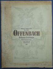 PIANO CHANT ALLEMAND PARTITION OFFENBACH LES CONTES D'HOFFMANN 1904 REBAY