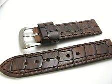 Genuine Calf embossed leather watch band 22mm Arcadia WII  SHINOLA STYLE