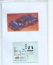 Lancia Stratos #2 Casarotto rallye 2 valli 1979    Arena   Décal 1/43°