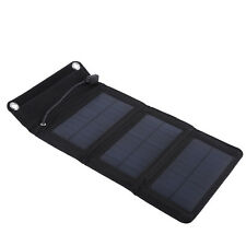 5V 5W Folding Solar Panel USB Camping Portable Battery Charger Black SG