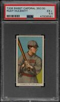 Rare 1909-11 T206 Rudy Hulswitt Sweet Caporal 350 St. Louis PSA 5.5 EX +