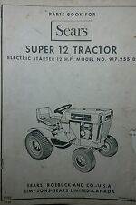 Sears Suburban SUPER-12 SS-12 Garden Tractor Parts Manual 16p 917.25510 GT ST db