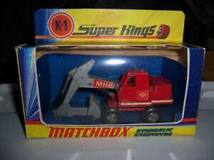 VINTAGE Matchbox 1971 Super Kings K-1 HYDRAULIC EXCAVATOR & New BOX
