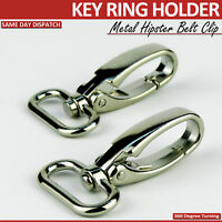 2 NEW KEY RING BELT CLIP KEY CHAIN STRONG HIPSTER  BELT PULL CLIP BUCKLE KEYRING