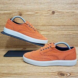 Cole Haan Bergen Wingtip Orange Suede Oxford Shoes 161c11256l12