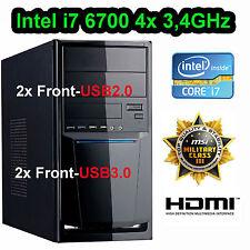 SKYLAKE MSI Mini Aufrüst PC Intel 6.Gen i7 6700 3,4GHz 32GB DDR4 USB3.1 HDMI