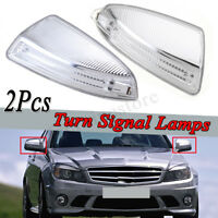 For Mercedes Benz W204 C-Class 07-11 LH+RH Mirror Indicator Lamp Light Pair