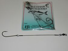 (24) 3 PACK BLUEFISH CHUM HOOKS CHUNK RIG  SIZE 4/0  WIRE SNELLED HOOK