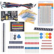 Electronic Learning Kit Breadboard Cable Resistor Capacitor LED Button Switch