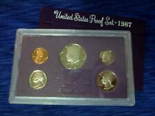 1987 S United States Mint Proof Set ~ 5-Coin Proof Set w/ OGP