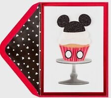 Papyrus Disney Mickey Mouse Cupcake Happy Birthday Greeting Card