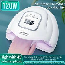 Led Uv Nail Gel Curing Lamp 120W Light Nail Gel Polish Dryer Nail Art Machine F1