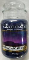 Yankee Candle KILIMANJARO STARS Large Jar 22 Oz Blue Housewarmer New Wax Musk