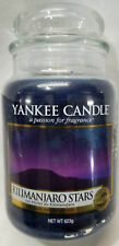 Yankee Candle KILIMANJARO STARS Large Jar 22 Oz Blue Housewarmer New Wax Musk